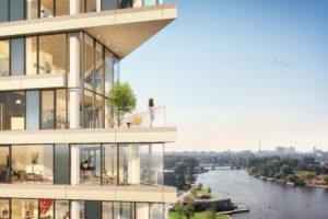 Hout-hybride oplossing met uitzicht – HAUT in Amsterdam door Team V Architectuur