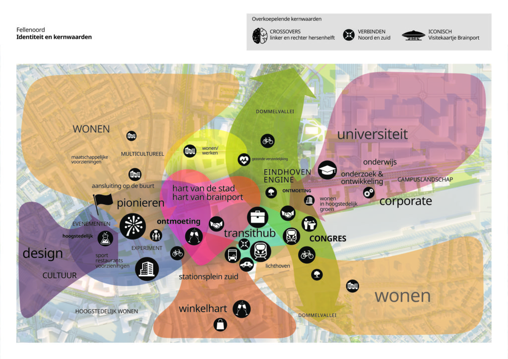 Central innovation district Fellenoord in Eindhoven door KCAP
