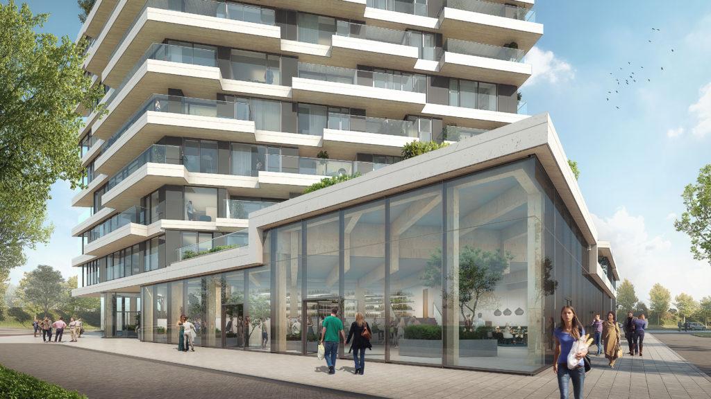 Op de begane grond komt een overdekte publieke stadstuin: HAUT's Hortus Beeld Zwartlicht