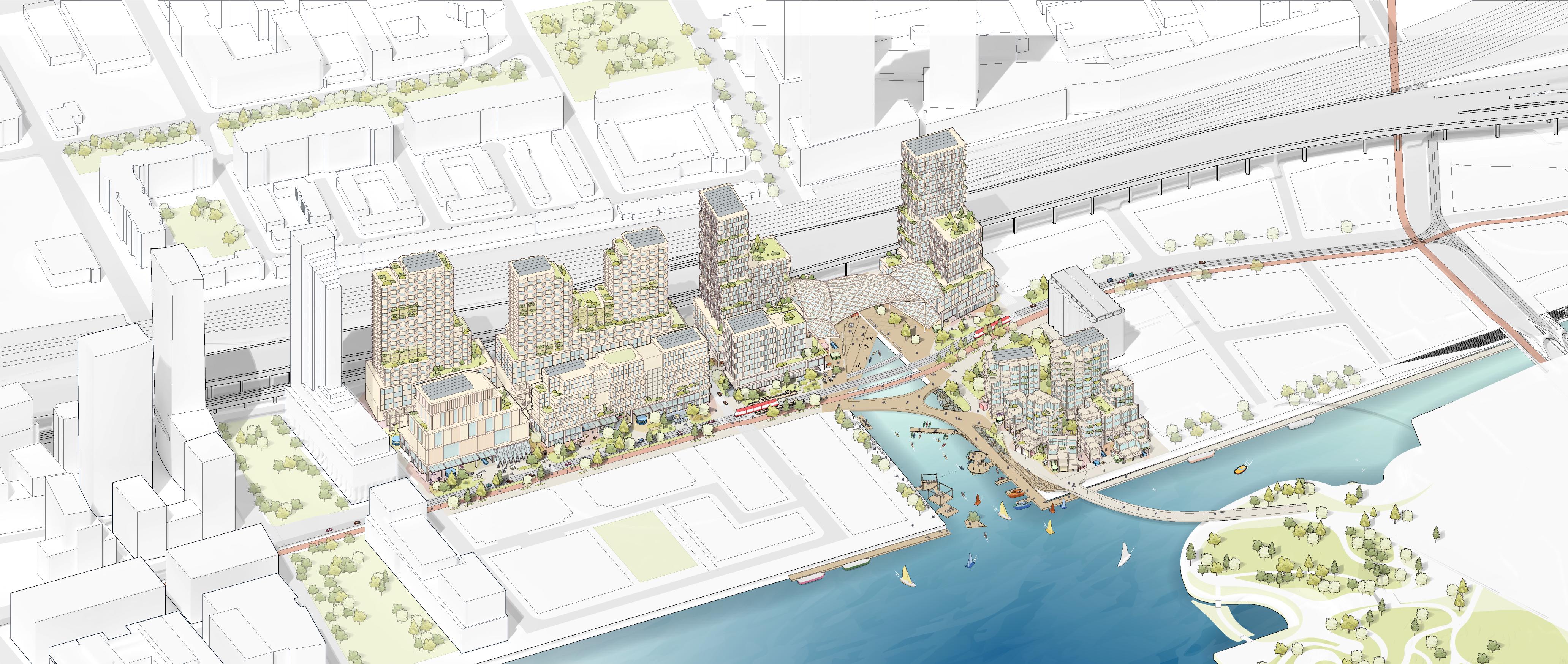 <p>De nieuwe wijk krijgt een mix-use samenstelling Beeld Sidewalk Labs</p>