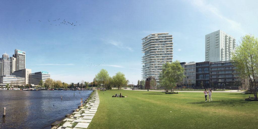 Team V Architectuur heeft gekozen voor verdiepingshoge glazen gevels, die uitzicht bieden over de omgeving Beeld Zwartlicht