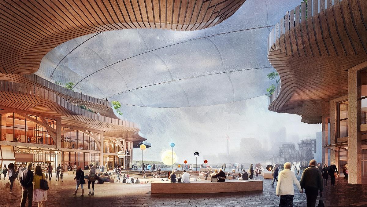 <p>In Sidewalk Toronto komt ook een nieuw kantoor voor Google te staan Beeld Picture Plan voor Heatherwick Studio</p>