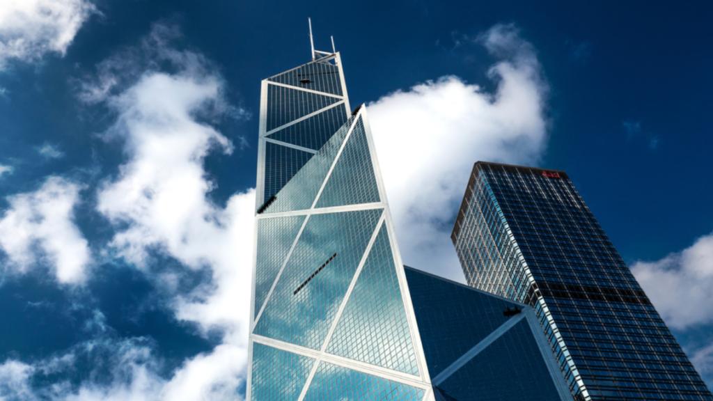 Bank of China Tower door IM Pei. Beeld Shutterstock