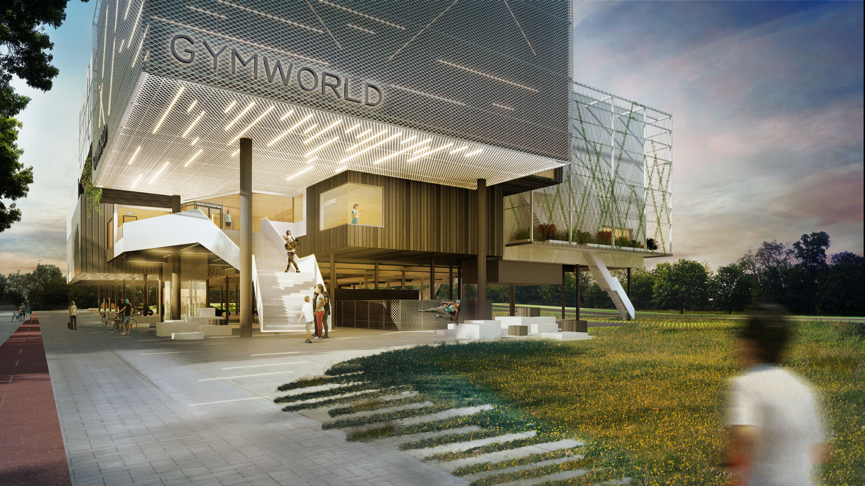 <p>Gymworld Zoetermeer door Venhoeven CS.  Beeld VingtSix</p>