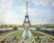 Parijs eiffeltoren opening 80x64