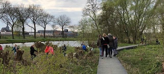 Trekvaartzone in Kampen doorTLU landschapsarchitecten