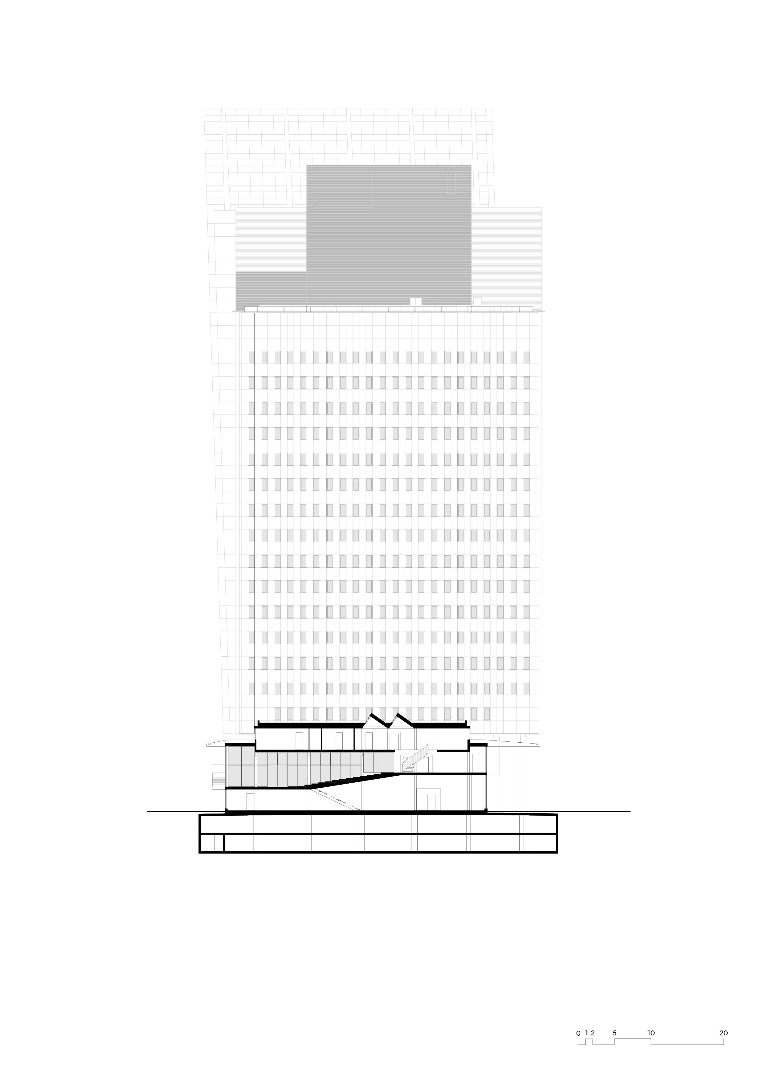 <p>KPN hoofdkantoor &#8211; dwarsdoorsnede</p>