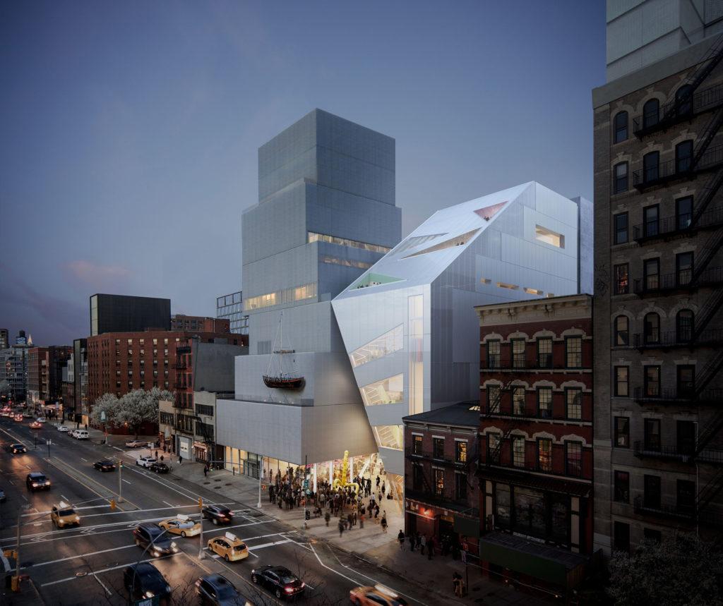 New Museum NY door OMA