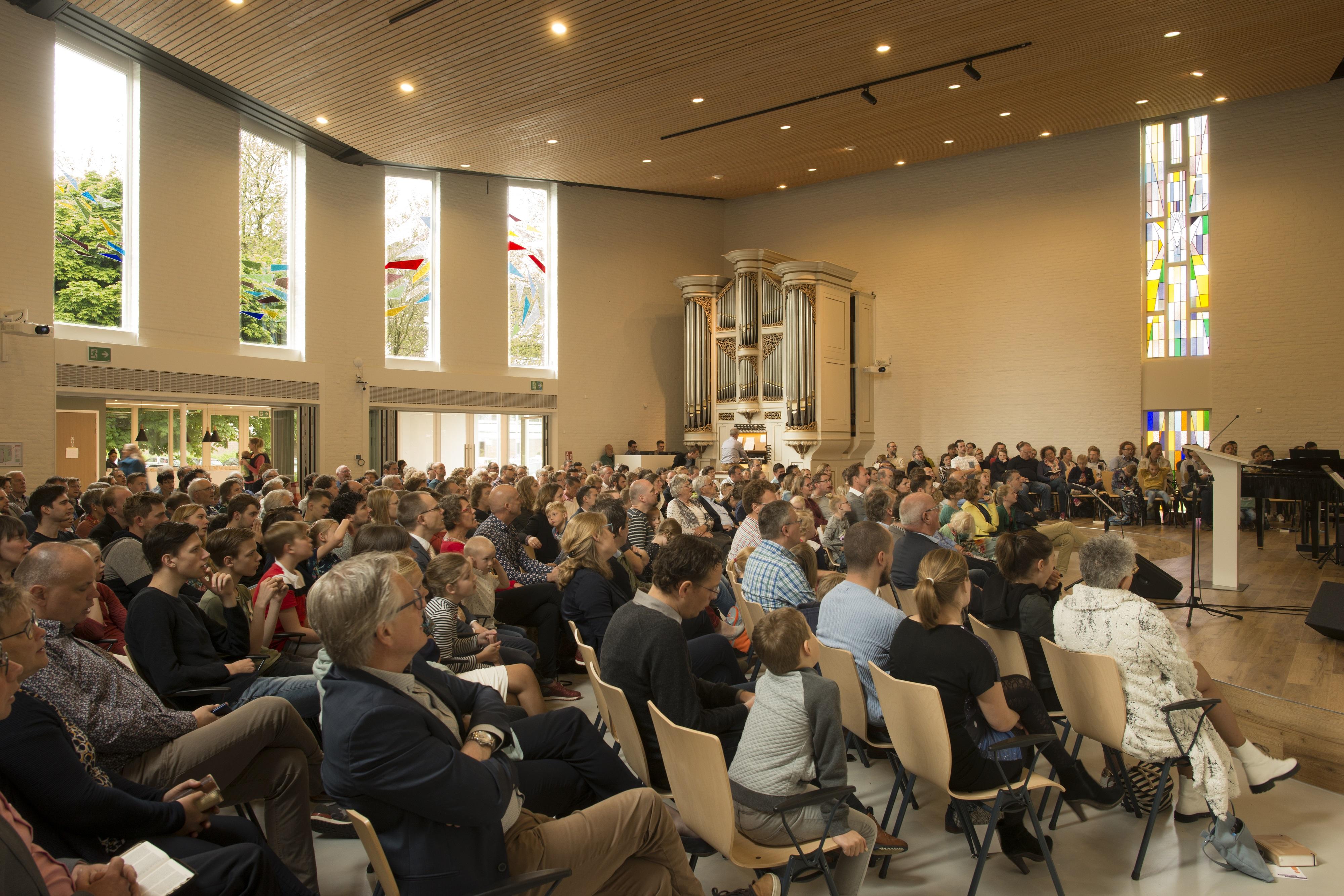 <p>Renovatie kerk de Vaste Burcht in Gouda door Open Kaart. Beeld Rufus de Vries</p>