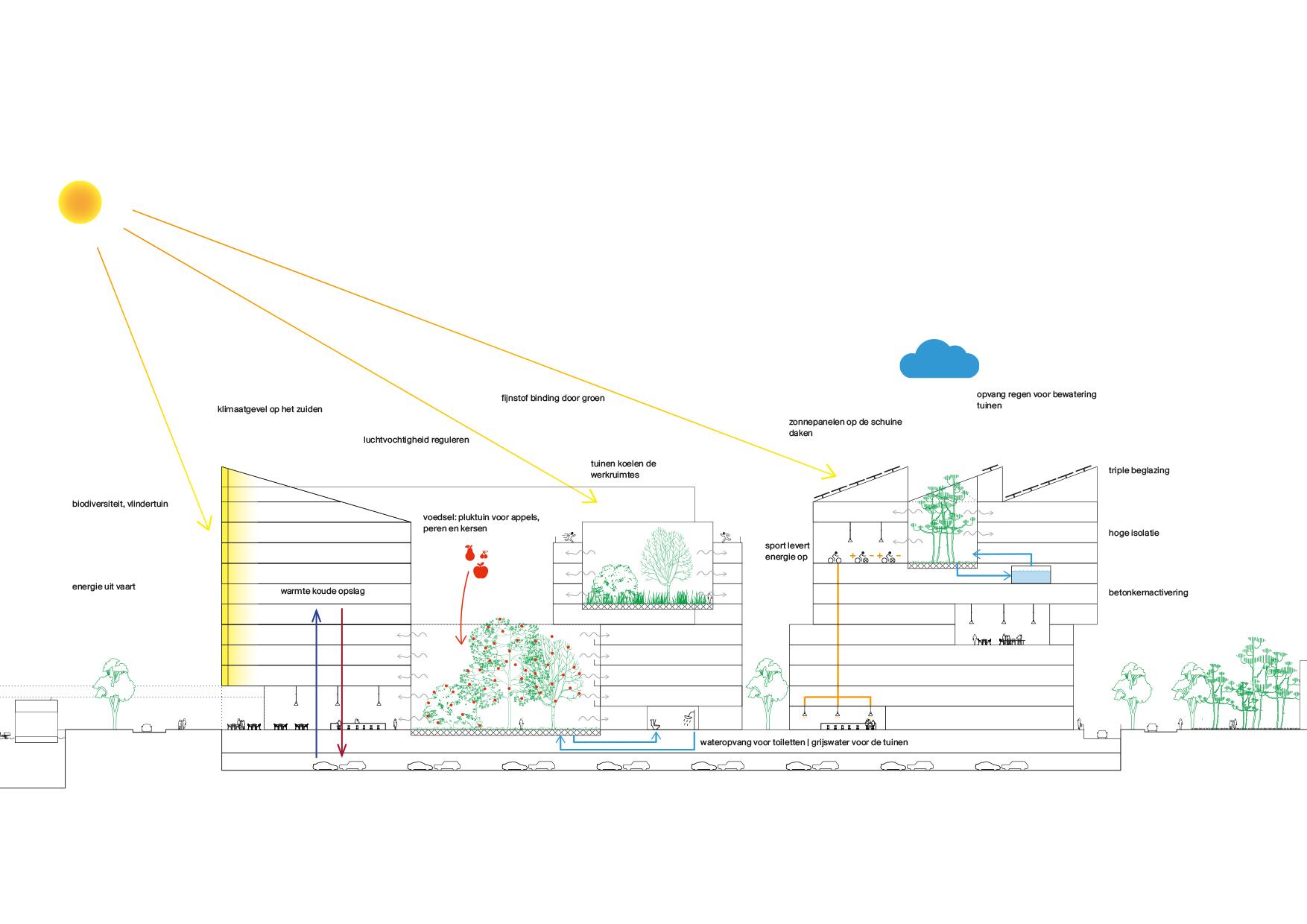<p>8 hortussen van Palmenkas tot Vlindertuin, altijd gekoppeld aan een multifunctionele dubbel hoge ruimte</p>
