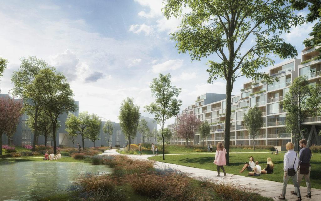 Appartementencomplex Residence Nádraží Žižkov in Praag door Benthem Crouwel Architects en RA15. Beeld Benthem Crouwel Architects