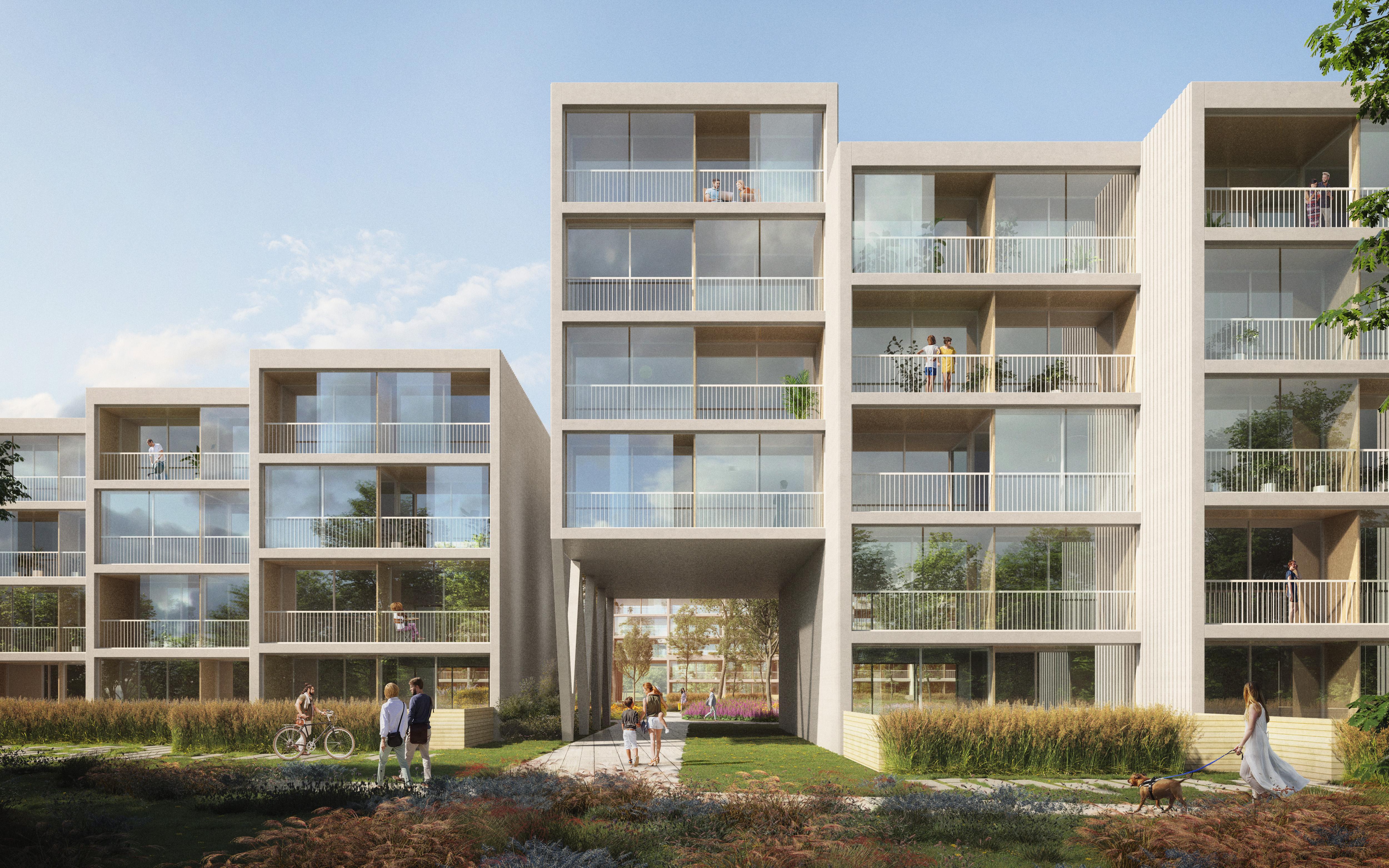 <p>Appartementencomplex Residence Nádraží Žižkov in Praag door Benthem Crouwel Architects en RA15. Beeld Benthem Crouwel Architects </p>