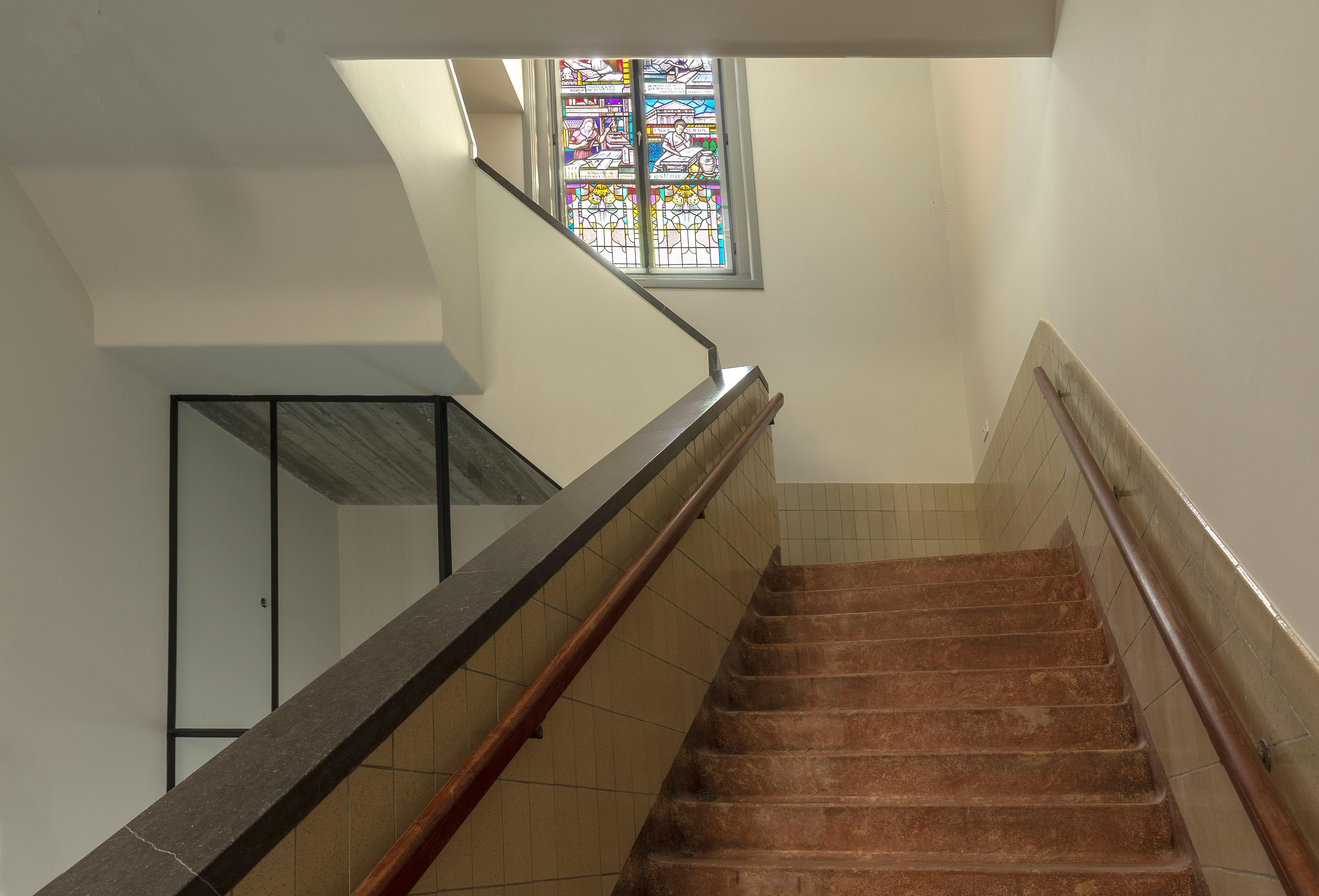 <p>De monumentale trap van de bibliotheek uit 1939</p>