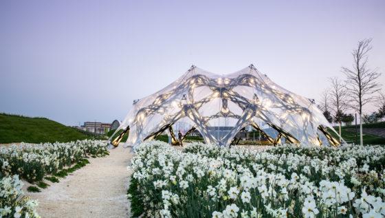 Innovatief paviljoen van vezel versterkt composiet – Jan Knippers Ingenieure