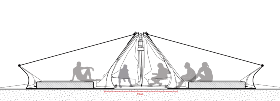 Jasper Manders wint met Inside out There-tent eerste ArchiTenten Challenge