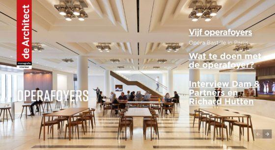 Zojuist verschenen: de Architect Monografie Interieur – Foyers operahuizen