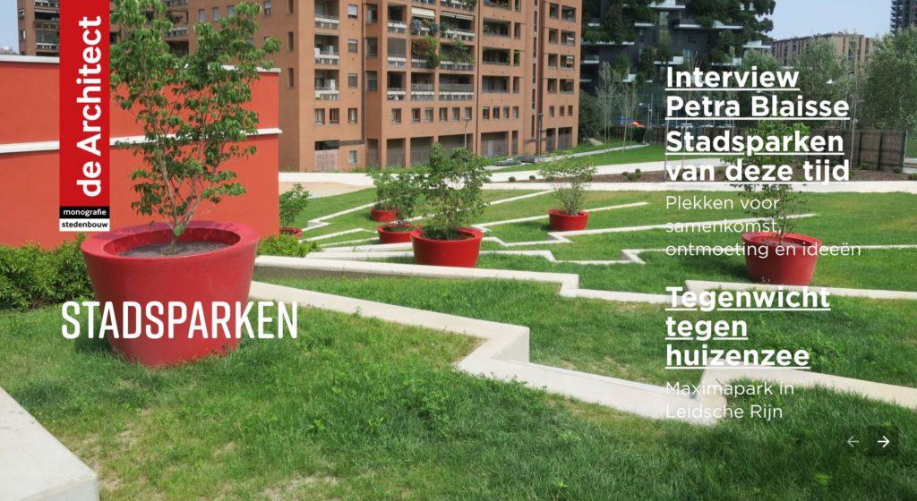 Monografie Stedenbouw Juni 2019 over Stadsparken