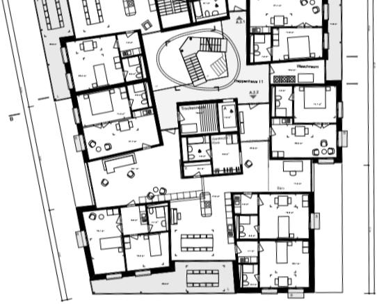 Cluster van zes eenheden in huis A' door 'Duplex Architekten'