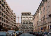 Veelzijdig gebouw voor communicatie – Redactiegebouw TAZ in Berlijn (DE) door E2A Architekten