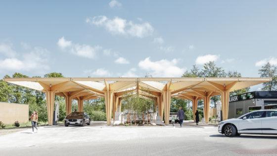 Modulair laadstation voor elektrische voertuigen in Fredericia, Denemarken – COBE