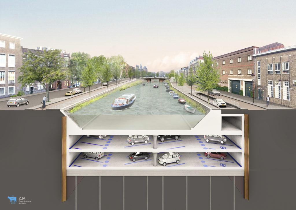 Albert Cuypgarage Amsterdam. Copyright ZJA Zwarts & Jansma Architecten
