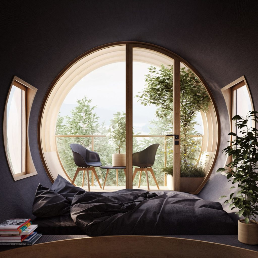 Conceptueel tiny treehouse door Architectuur Studio Precht voor Baumbau