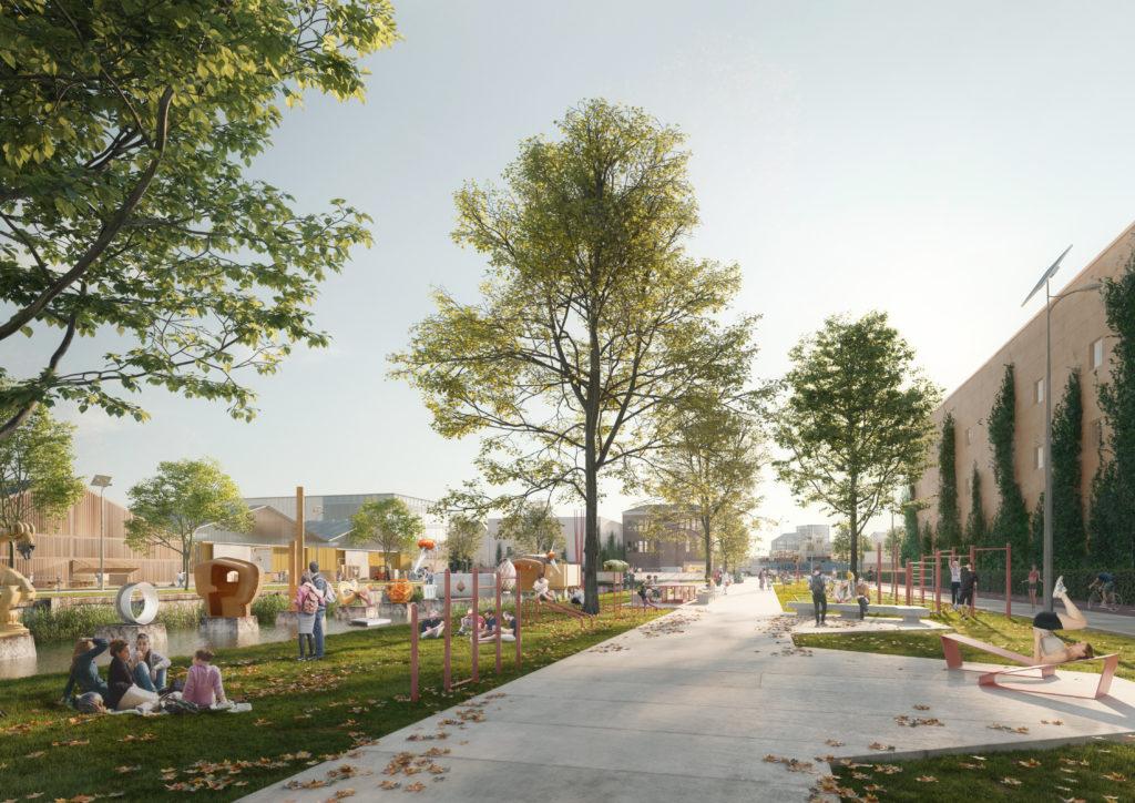 Impressie Galileipark. Beeld @ DELVA Landscape Architects / Urbanism