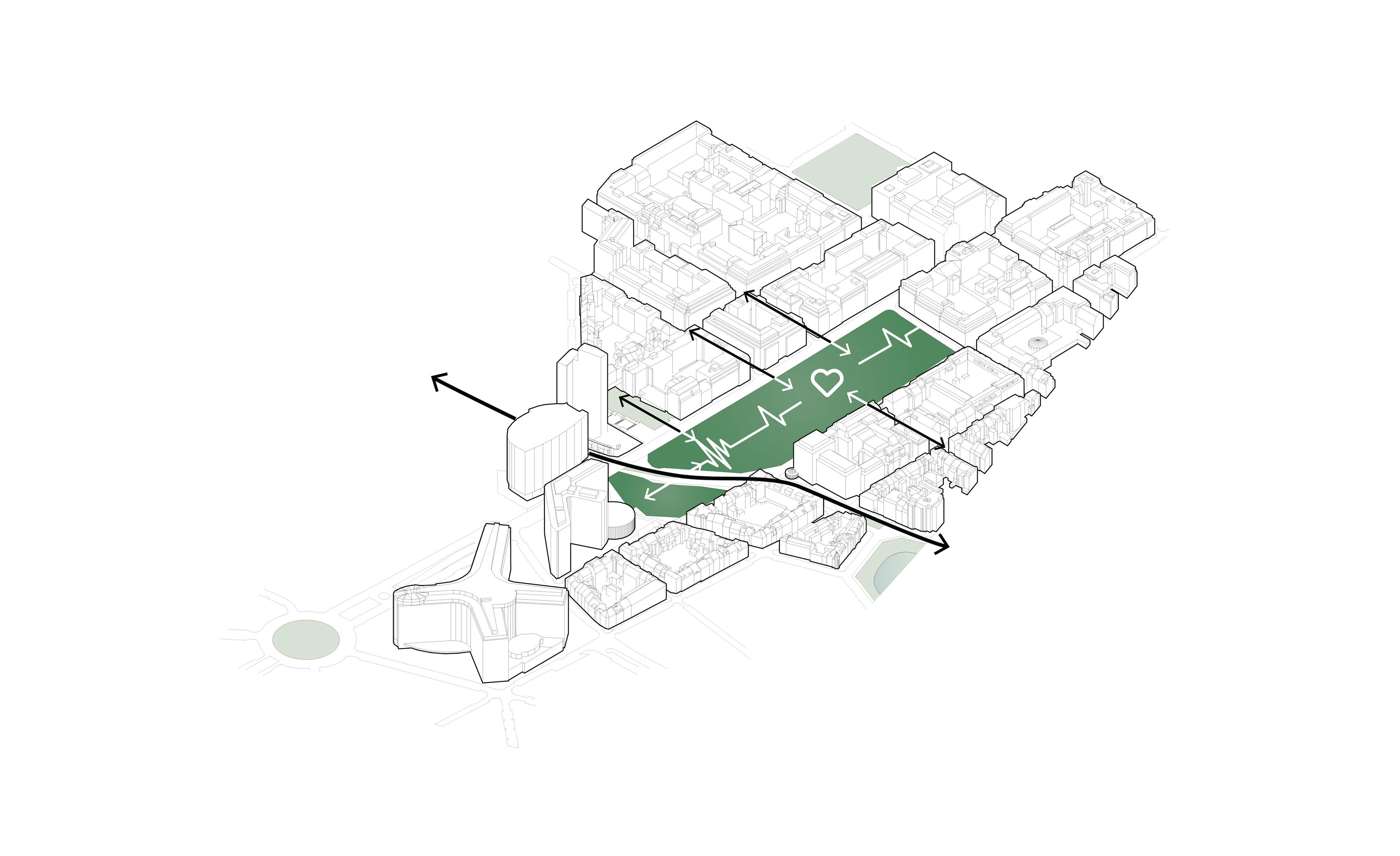 <p>Verbinding van de verschillende buurtgemeenschappen</p>