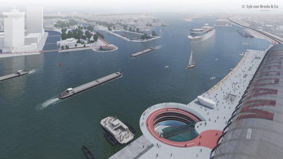 In beeld: De IJ klopper door Syb van Breda & Co architects