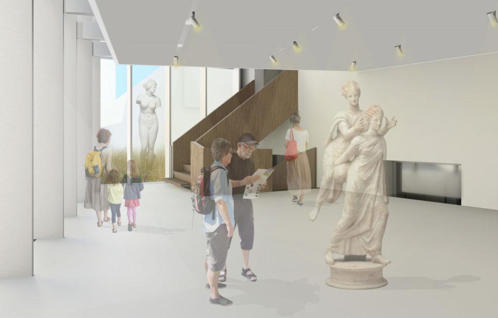 Inbreiding en herinrichting museum van het Allard Pierson Amsterdam. Beeld Atelier PRO