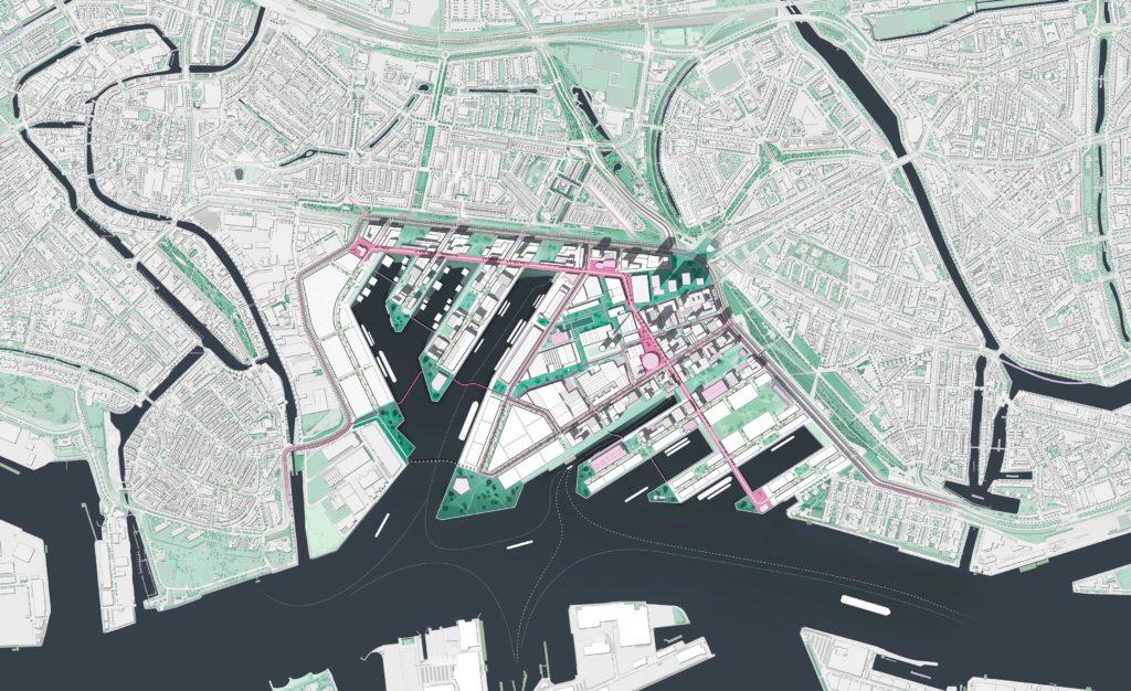 Toekomstperspectief (2050) Merwe Vierhavens Rotterdam. Beeld DELVA