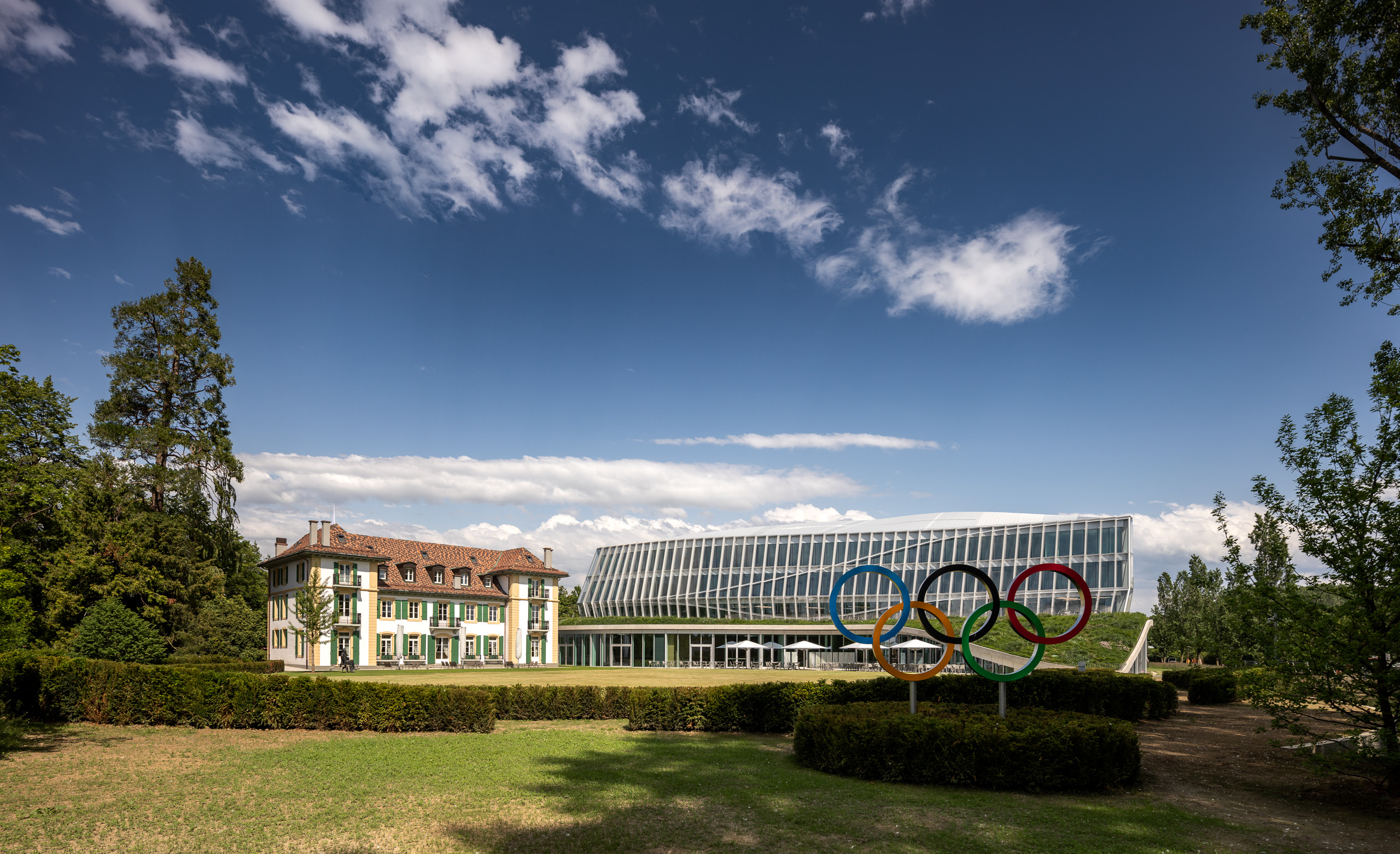 <p>Olympic House Lausanne door 3XN © 2019 / International Olympic Committee (IOC) / MØRK, Adam</p>