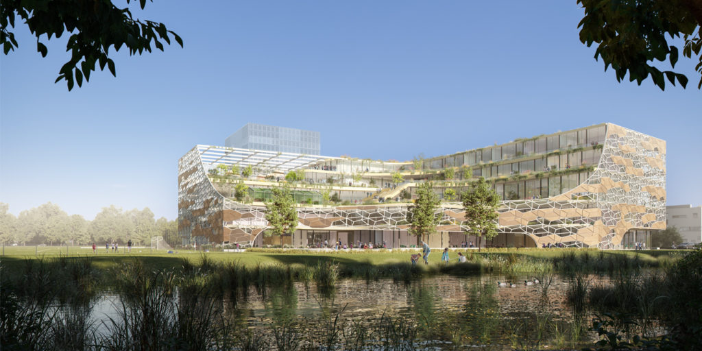 Internationale School Utrecht door SVP en CROSS Architecture. Beeld DMOO