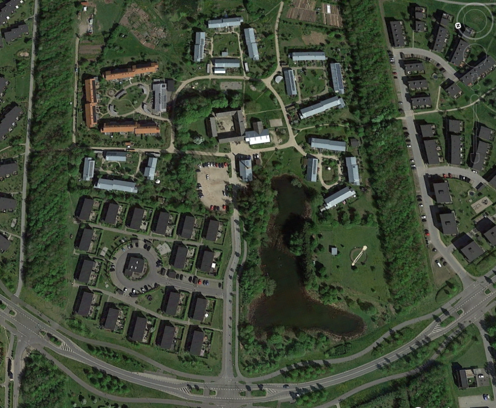 Munksøgård Roskilde (Denemarken) door Nielsen og Rubow, Monberg og Thorsen, Mangor og Nagel enHouse arkitekter. Beeld Google