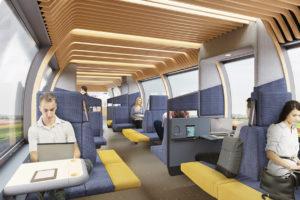 ARC19: NS Visie inrichting trein van de toekomst – Mecanoo i.s.m. Gispen