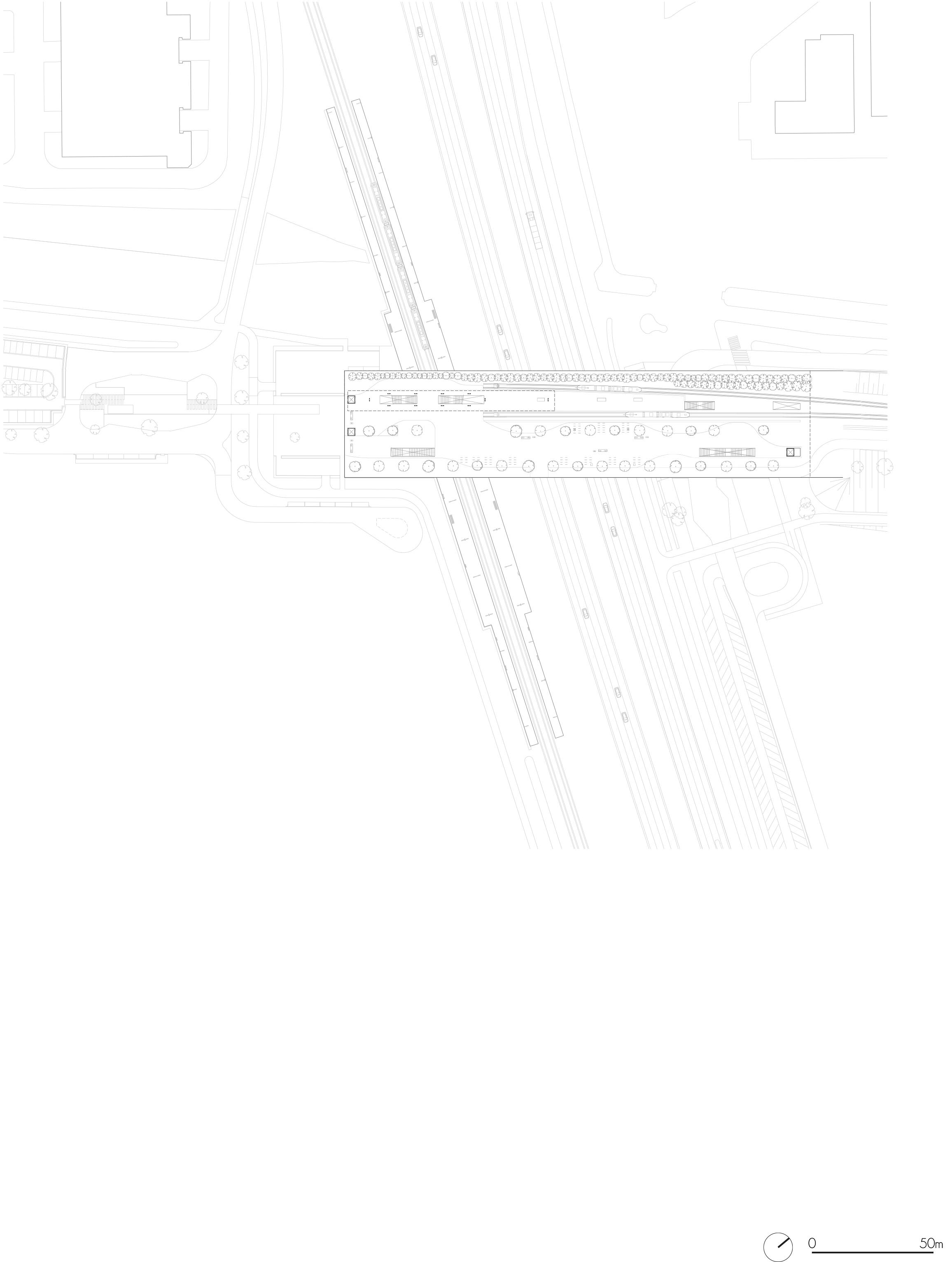 <p>Plattegrond brugdekniveau</p>