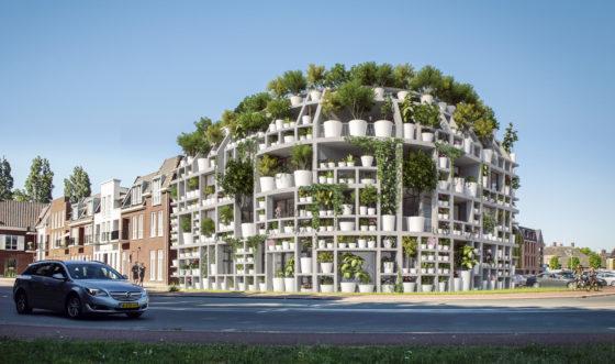 Groene Villa met levende gevel voor Sint-Michielsgestel