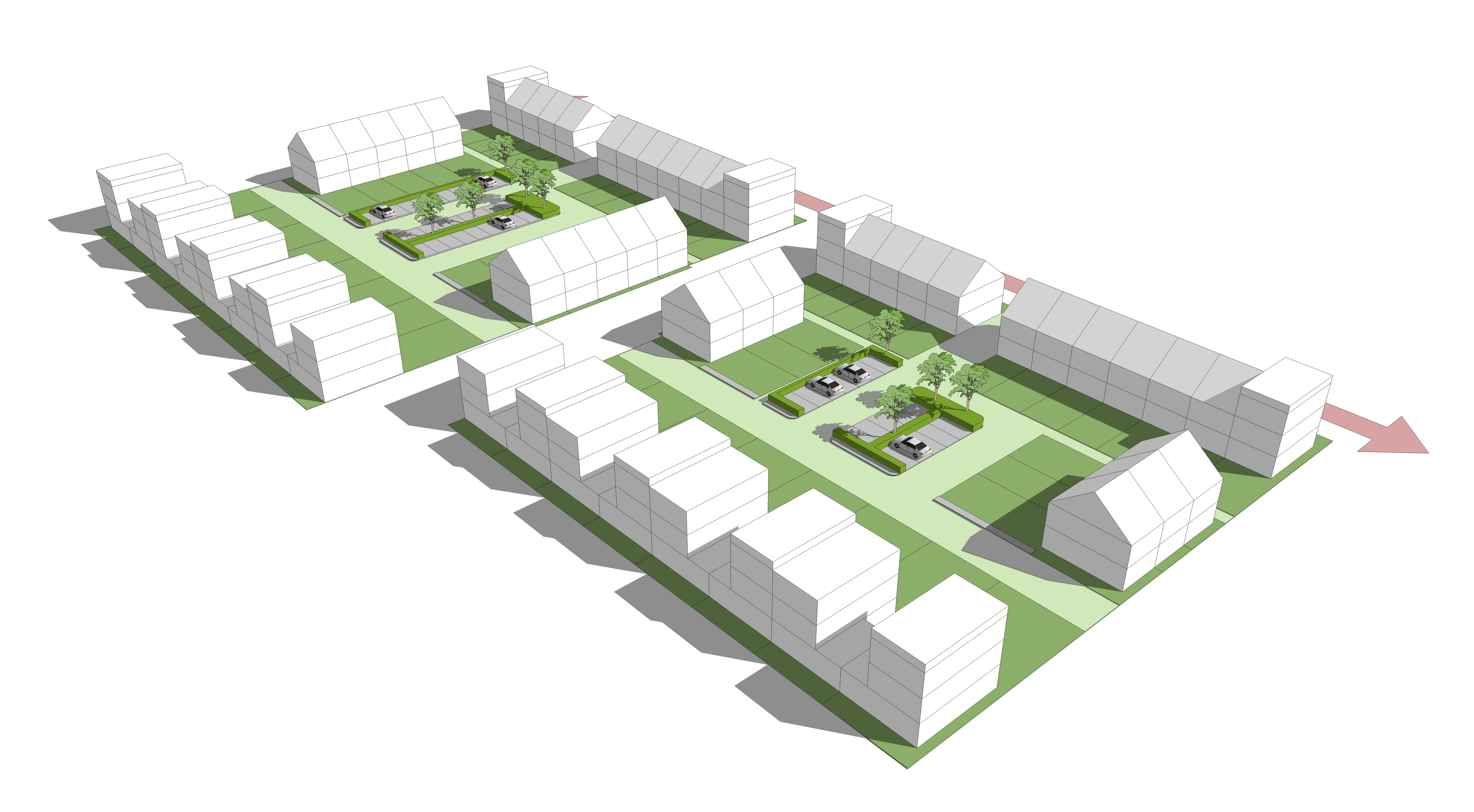 <p>Stedenbouwkundige principes Spartahof Apeldoorn MTD landschapsarchitecten</p>