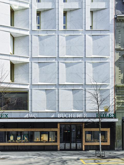 <p>Bucherer Flagship Store Zurich door Office Winhov. beeld: Georg Aerni, Zurich / Office Haratori</p>