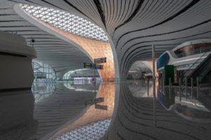 360 gradenfotografie Beijing Daxing International Airport helpen reizigers hun weg te vinden