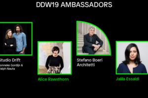 Studio Drift, Jalila Essaïdi, Alice Rawsthorn en Stefano Boeri ambassadeurs DDW 2019