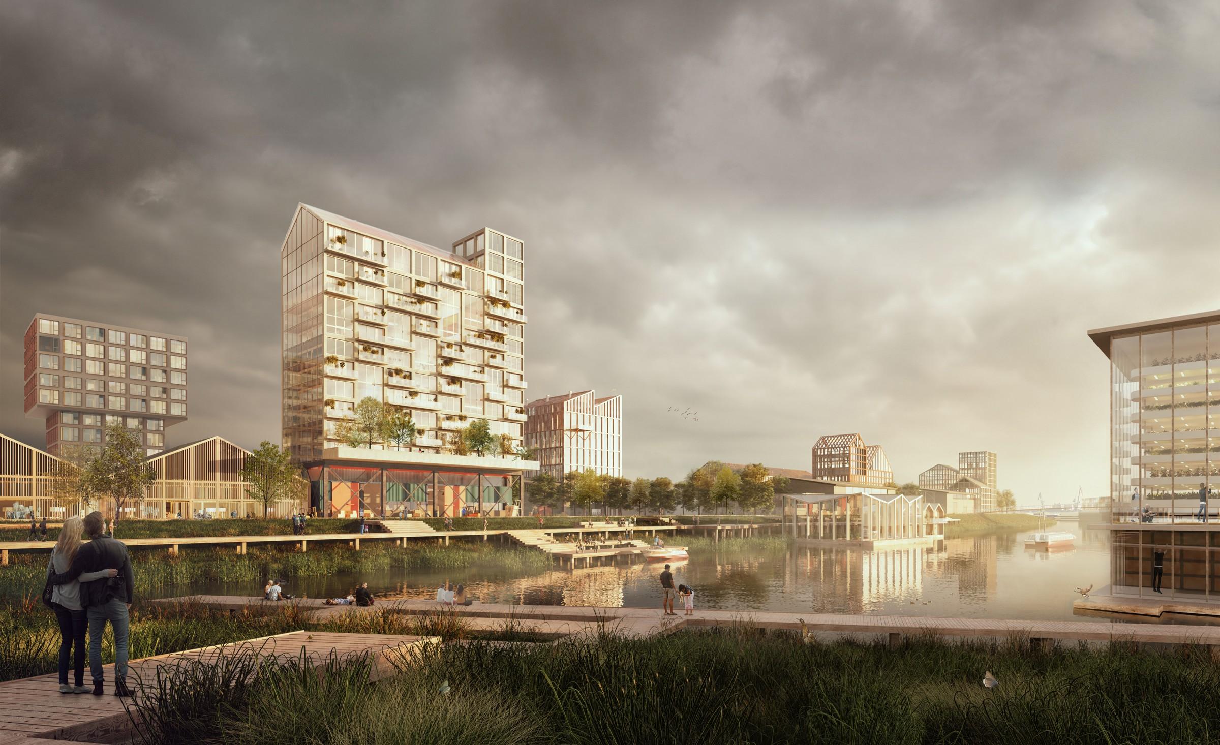 <p>M4H &#8211; Impressie van de getijdenparken in de dokken &#8211; DELVA Landscape Architecture   Urbanism</p>