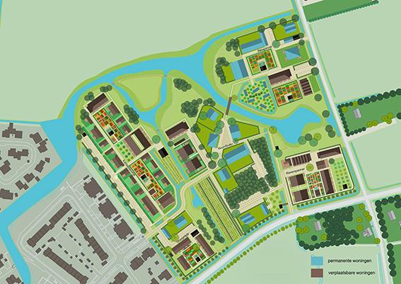 <p>Plankaart Buurtskap de Tuunen Texel  beeld: La4Sale</p>