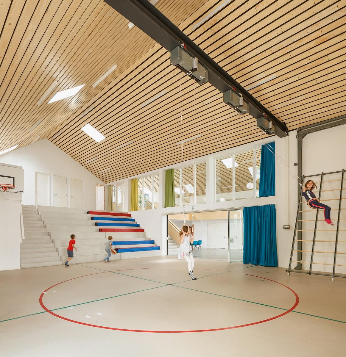 <p>Gymzaal en aulaMFC Biggekerke. Beeld Katja Effting</p>