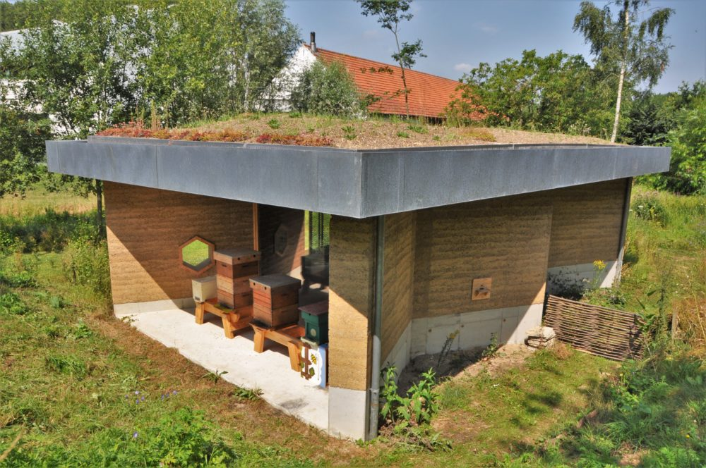 ARC19: Leemgestampt paviljoen natuurdomein de Helix in Grimminge (B) – Dam Architecten