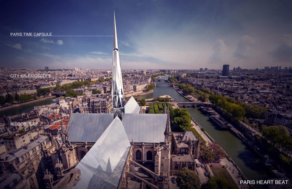 Notre-Dame Heartbeat - winnaar publiekverkiezing wederopbouw Notre Dame