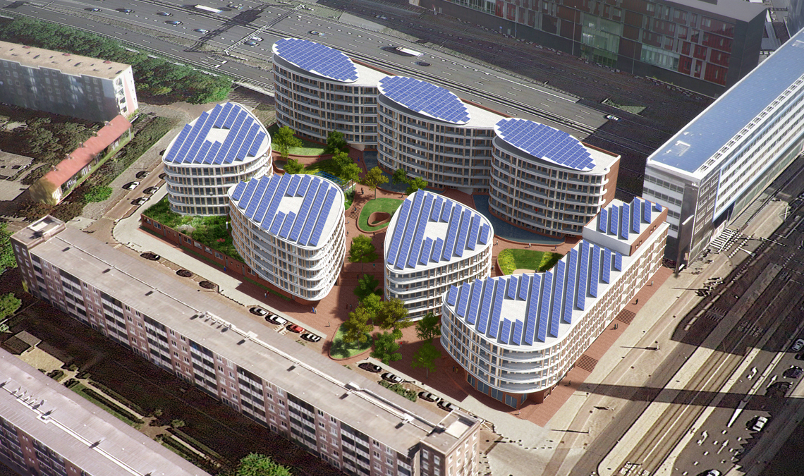 <p>Aerial – beeld: Tangram Architekten</p>