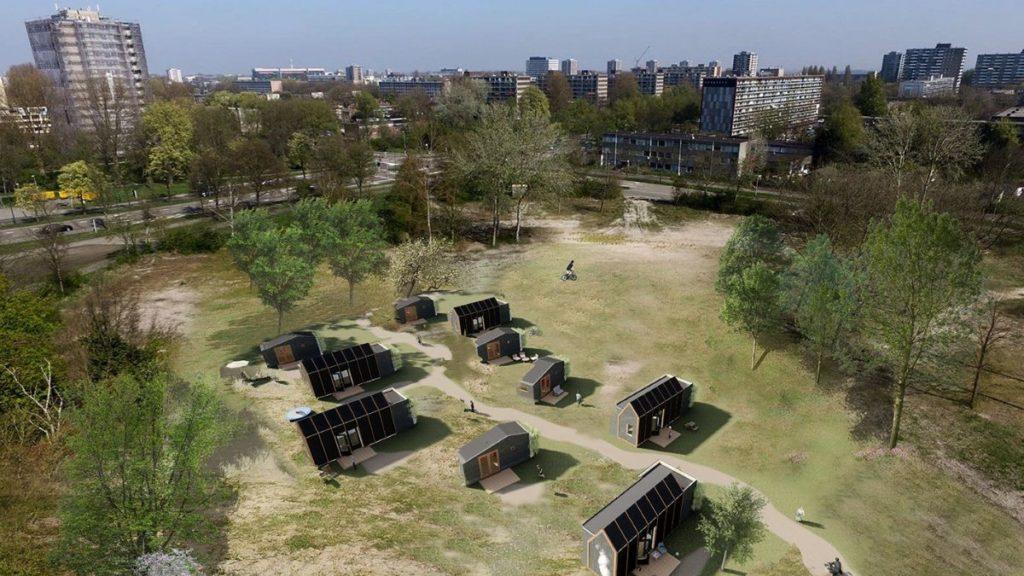Verplaatsbare woonwijk Texel door FARO