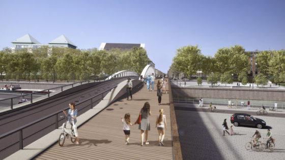 Brussel start bouw Suzan Danielbrug