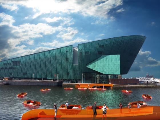 RoundAround: Zelfvarende 'Roboat units' verbinden centrum Amsterdam met Marineterrein